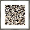 River Rocks Pebbles Framed Print