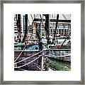 River Thames Sailing Barges. Framed Print