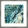 Sodium Thiosulphate Crystals In Polarized Light Framed Print