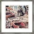 Tannery In Fes Framed Print
