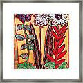 Three Flowers Framed Print by Diane Fine