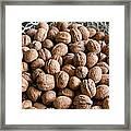 Walnuts In A Basket Framed Print