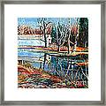 White Covered Bridge Framed Print