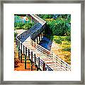 Winding Path In Blue Bloom Framed Print