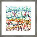 2013 Abstract Drawing #7 Framed Print