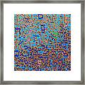 2014 20 Psalms 20 Hebrew Text Of In Blue And Other Colors On Gold  Framed Print