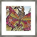 2015 Rose Parade Float With Butterflies 15rp043 Framed Print