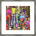 Shop Talk Framed Print