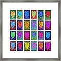 24 Hearts In A Box Framed Print