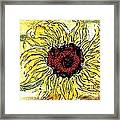 24 Kt Sunflower - Barbara Chichester Framed Print
