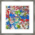 Abstract Colorful Painting Background Framed Print