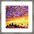 Angkor Sunrise Framed Print