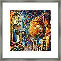Cafe In The Old City Framed Print