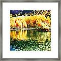 Lake Reflection In Fall Framed Print
