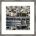 Reflections In Mikrolimano Port Framed Print