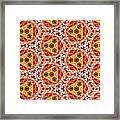 Seamlessly Tiled Kaleidoscopic Mosaic Pattern Framed Print