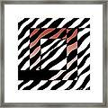 3 Squares With Ripples Framed Print