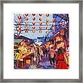 Traditional Shopping Area Framed Print