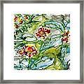 Zenmoksha Flowers Framed Print