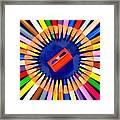 Colorful Pencils Framed Print
