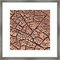 Cracked Dry Clay Framed Print