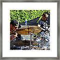 Dave Lombardo And Pancho Tomaselli Framed Print