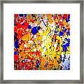 Modern Abstract Painting Original Canvas Art Wild By Zee Clark Framed Print