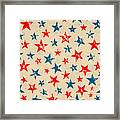 Seamless Pattern For 4th Of July Framed Print