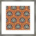 Seamlessly Tiled Kaleidoscopic Mosaic Pattern Framed Print