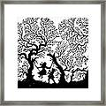 Silhouette 19th Century Framed Print