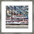 The Dixie Queen Paddle Steamer Framed Print