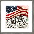 Usa Finance Framed Print