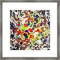 Modern Abstract Painting Original Canvas Art Twister By Zee Clark Framed Print