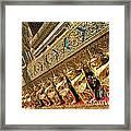 Temple In Grand Palace Bangkok Thailand Framed Print