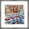 50s American Style Soda Fountain Framed Print by David Smith