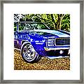 69 Chevrolet Camaro - Hdr Framed Print by motography aka Phil Clark