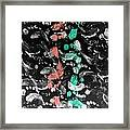 Bare Feet Abstract Painting Original By Zee Clark Framed Print