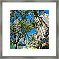 Downtown Miami Brickell Fisheye Framed Print