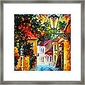 Evening Framed Print by Leonid Afremov