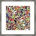 Modern Abstract Painting Original Canvas Art Twister By Zee Clark Framed Print
