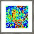 Modern Abstract Painting Original Canvas Art Young Life By Zee Clark Framed Print