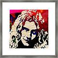 Robert Plant Framed Print by Marvin Blaine