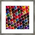Rows Of Multicolored Crayons  Framed Print