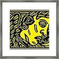 Dusseault Angel Cherub Yellow Black Framed Print