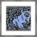 Bouthillette Angel Cherub Blue Black Framed Print