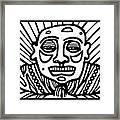 Lorton Buddha Black And White Framed Print