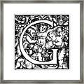 Decorative Initial G Framed Print