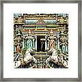 Hindu Temple With Indian Gods Kuala Lumpur Malaysia Framed Print