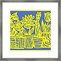Impedimenta Flowers Yellow Red Green Framed Print