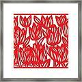 Sandvig Flowers Red White Framed Print